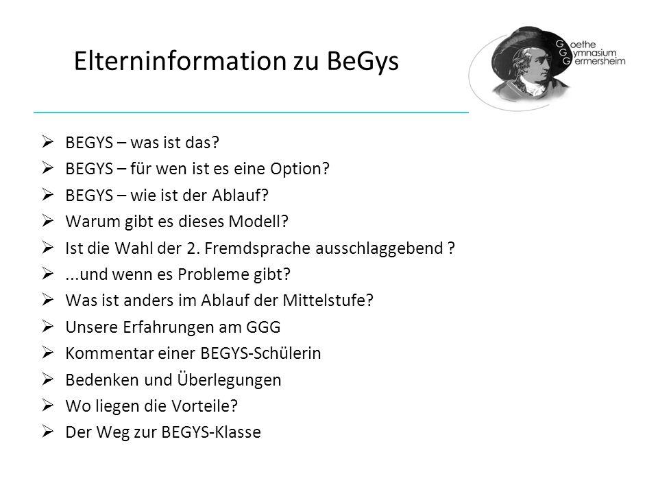 Elterninformation zu BeGys BEGYS – was ist das.BEGYS – für wen ist es eine Option.