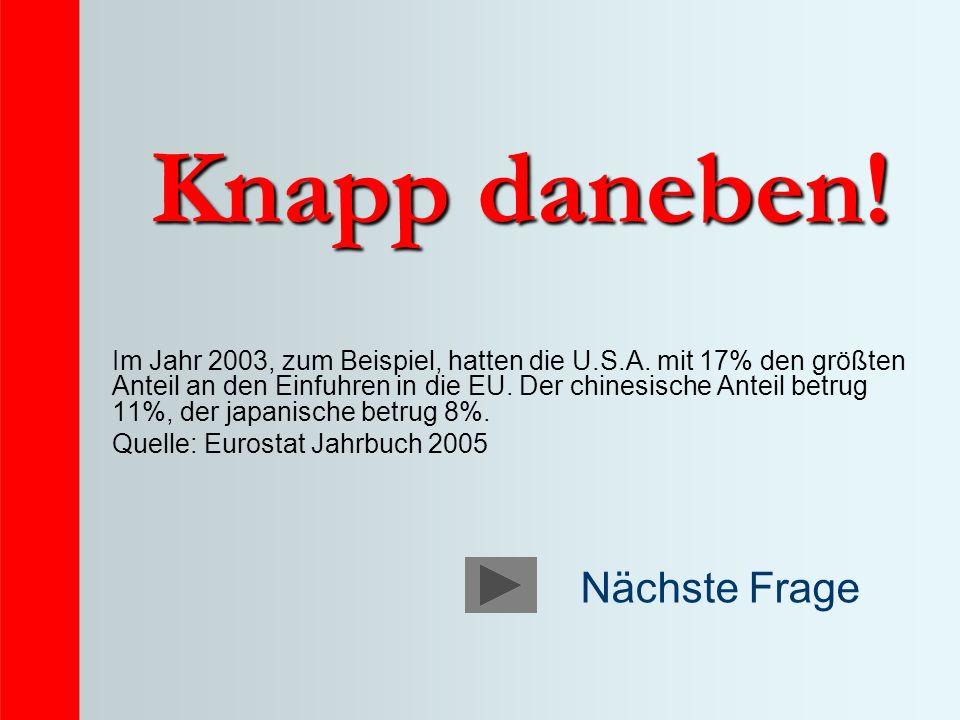 Knapp daneben. Im Jahr 2003, zum Beispiel, hatten die U.S.A.