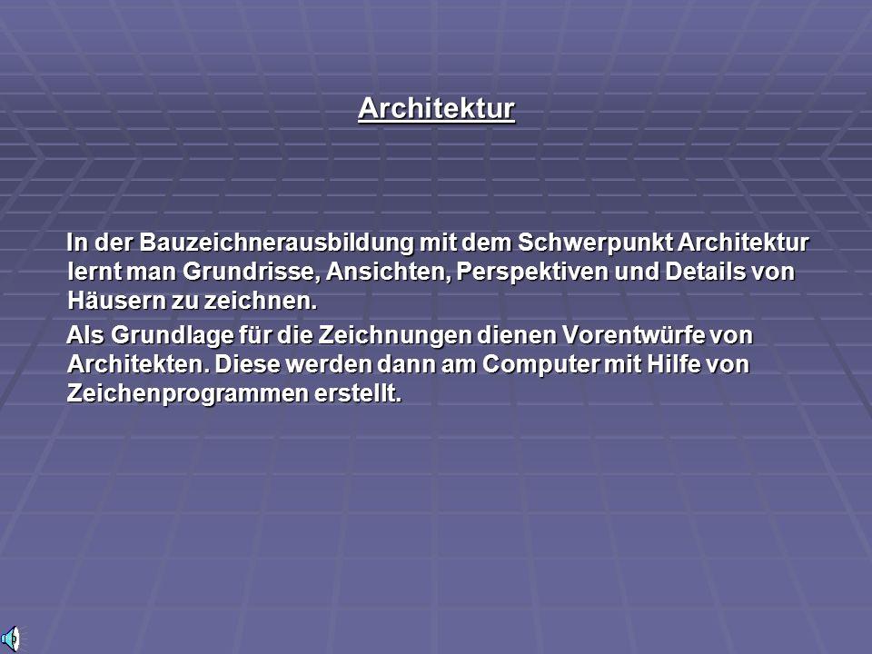 Schwerpunkt ARCHITEKTUR