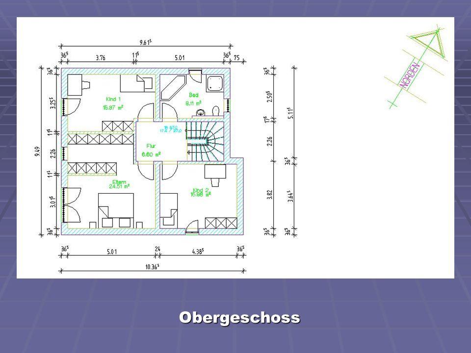 Grundriss eines Wohnhauses