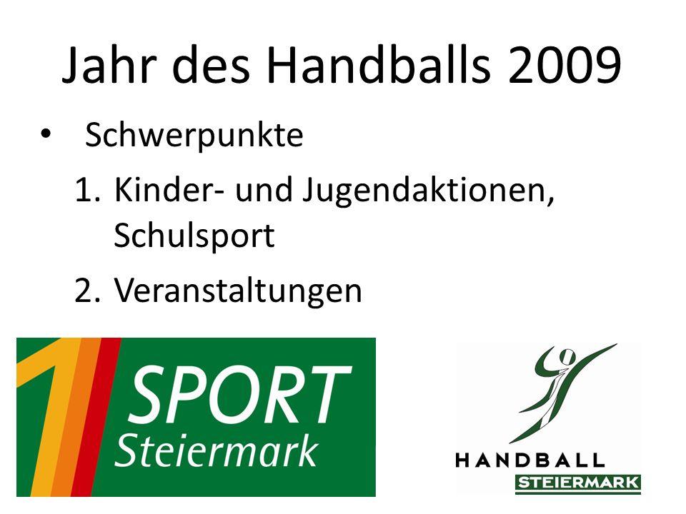 Schwerpunkte 1.Kinder- und Jugendaktionen, Schulsport 2.Veranstaltungen