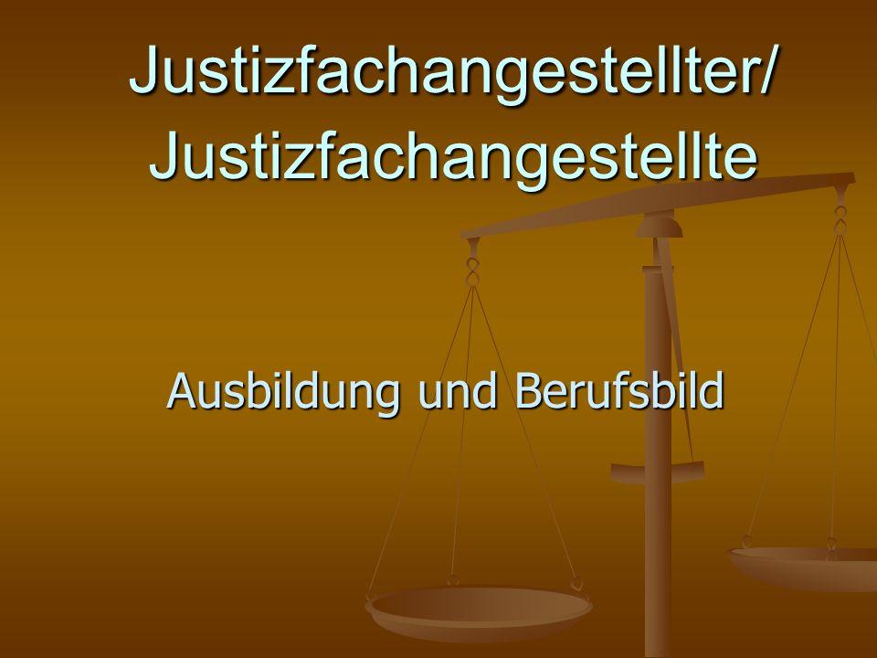 Justizfachangestellter/ Justizfachangestellte Ausbildung und Berufsbild