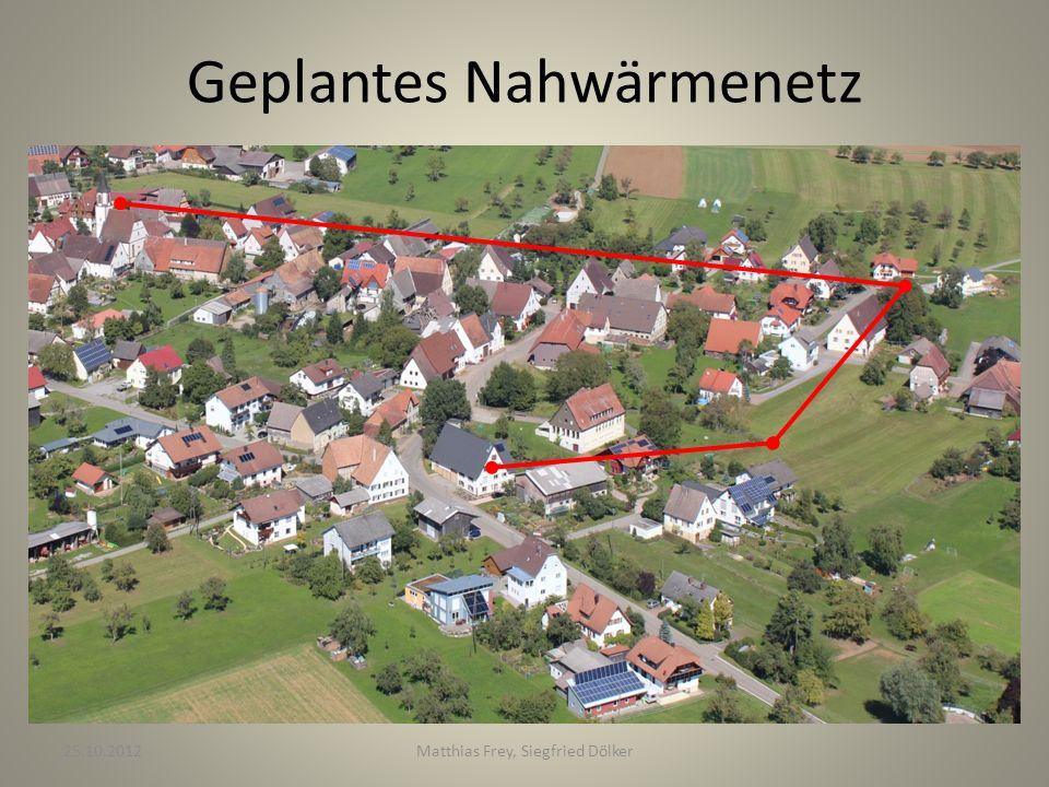 Geplantes Nahwärmenetz 25.10.2012Matthias Frey, Siegfried Dölker