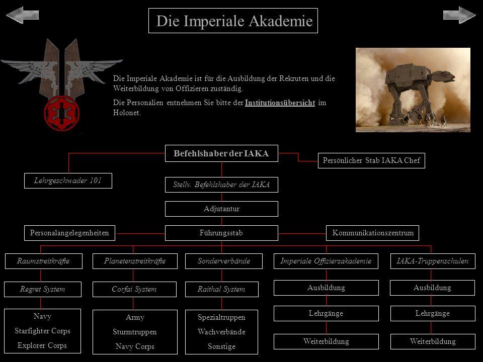 Ministerien für Arbeit, Bildung, Finanzen, Kultur & Wirtschaft Insgesamt ist das Imperium sehr militärisch aufgebaut, dennoch gibt es viele Aspekte des zivilen Lebens innerhalb des Reiches.