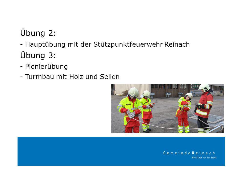 Übung 4: - Verkehrsdienst - 1. Hilfe Übung 5: - Feuerlöscher - Kleinlöscher - TLF Löschangriff