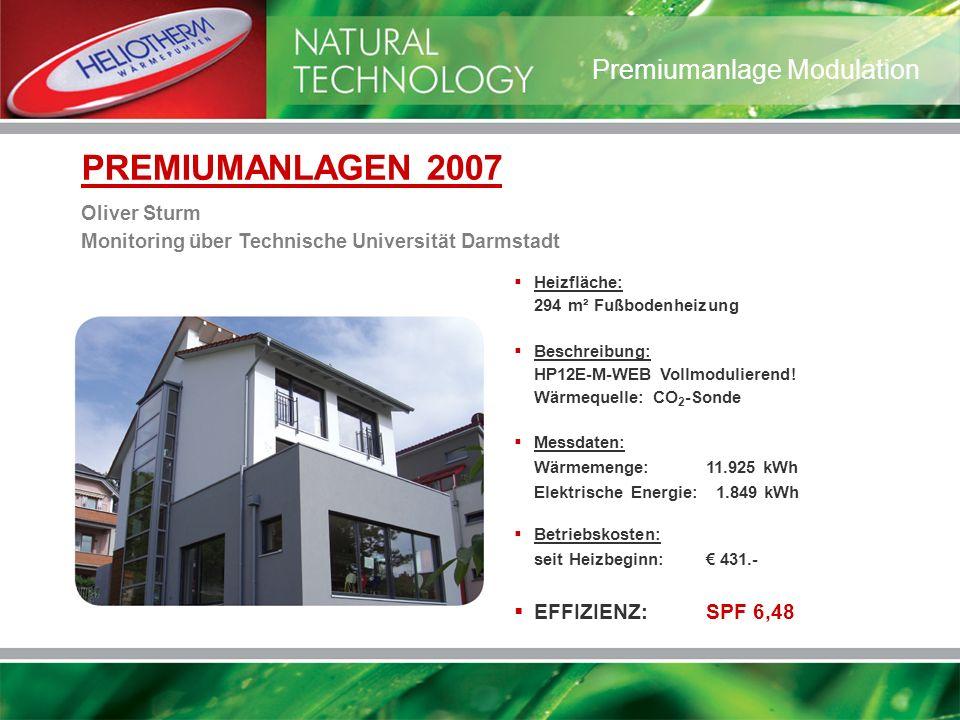 Heizfläche: 294 m² Fußbodenheizung Beschreibung: HP12E-M-WEB Vollmodulierend! Wärmequelle: CO 2 -Sonde Messdaten: Wärmemenge:11.925 kWh Elektrische En