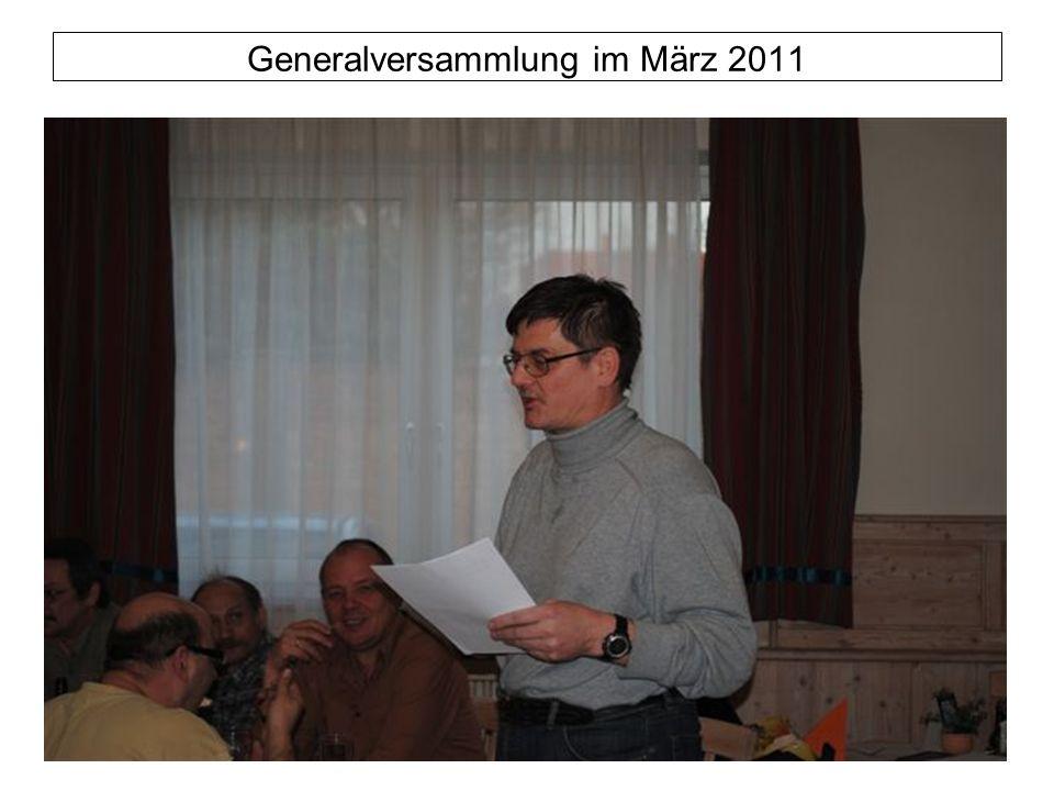 Generalversammlung im März 2011