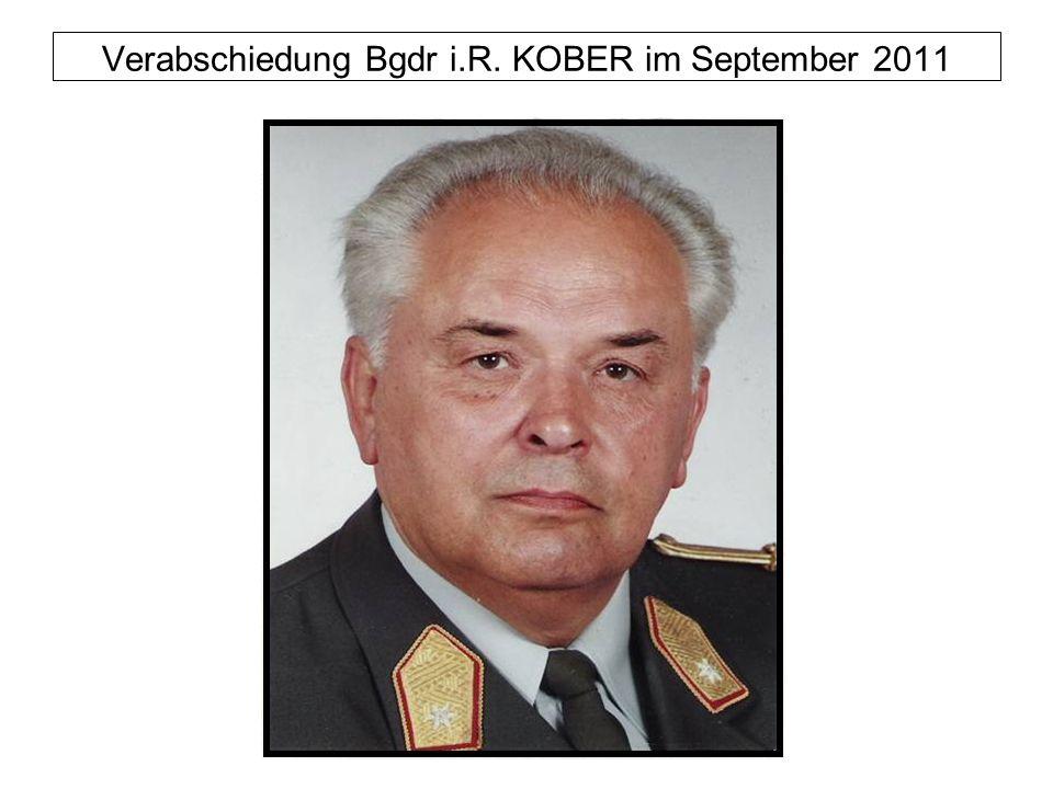 Verabschiedung Bgdr i.R. KOBER im September 2011