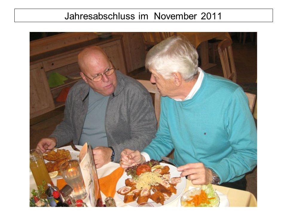 Jahresabschluss im November 2011