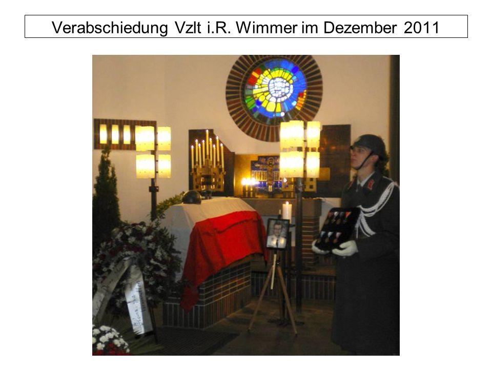 Verabschiedung Vzlt i.R. Wimmer im Dezember 2011