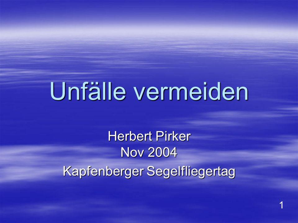 Anmerkungen zu den einzelnen Power-Point-Bildern: Bild 1: Der Vortrag wurde auf dem Kapfenberger Segelfliegertag am 13.