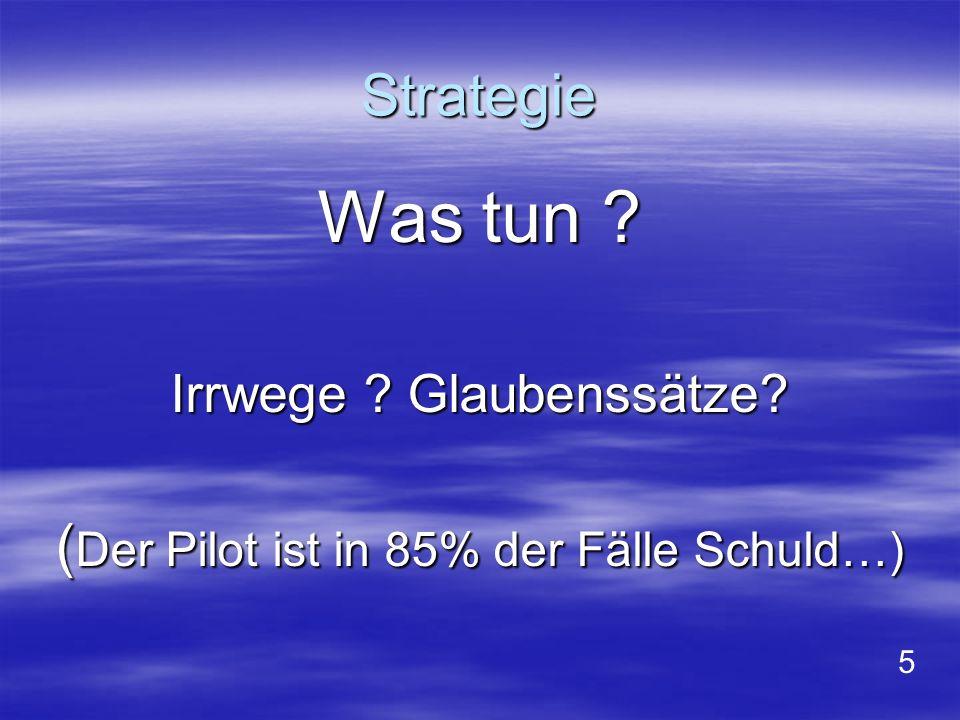 Bild 11: Vergleich BFE – Deutschland mit BEA – Frankreich : Tödliche Unfälle: BRD FR BFU BEA Strömungsabriss (Winde, Flug, Landung) 50% 36% Kollisionen: 27% 14% Gebirge (Hineinfliegen in den Hang): 4% 36% Landung (ohne Strömungsabriss): 7% - Schlepp-Pilot: 5% 7% Winde (ohne Strömungsabriss): 3% 7% Summe: 100% 100%