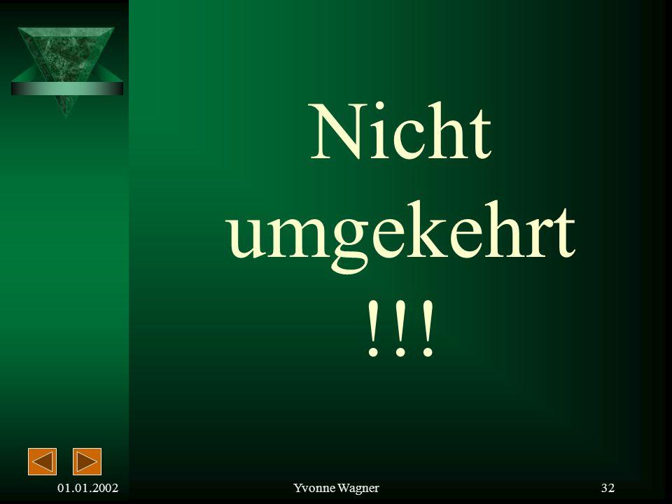 01.01.2002Yvonne Wagner31 Degressive Abschreibung Lineare Abschreibung