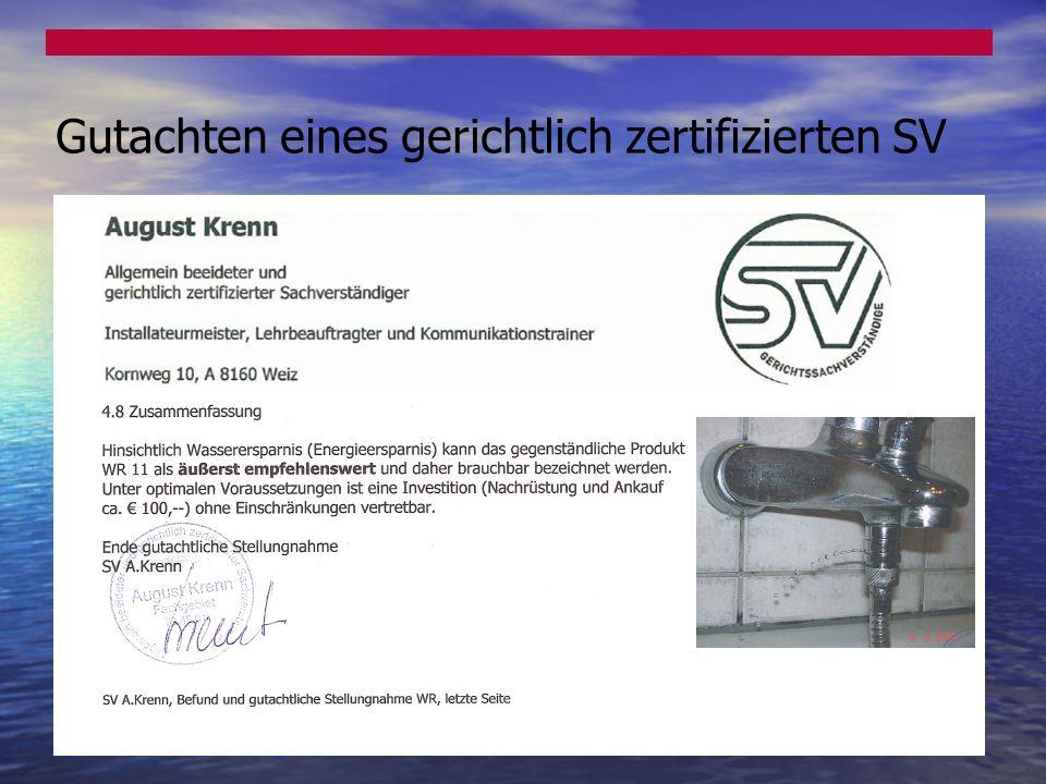 Gutachten eines gerichtlich zertifizierten SV