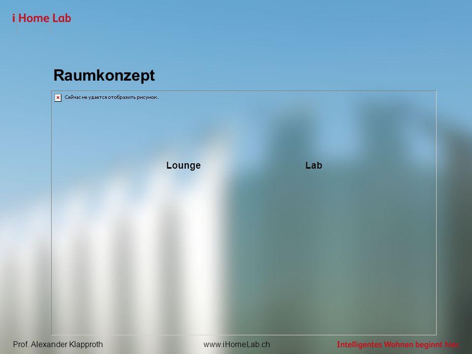 Prof. Alexander Klapprothwww.iHomeLab.ch Raumkonzept LoungeLab