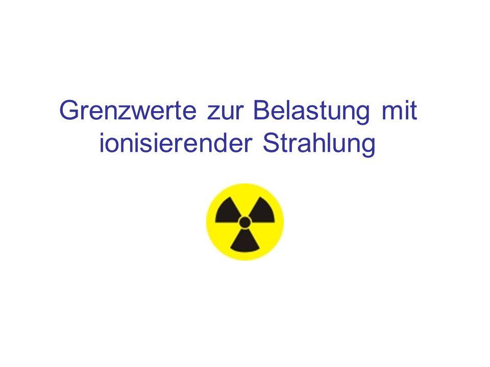 Grenzwerte zur Belastung mit ionisierender Strahlung.