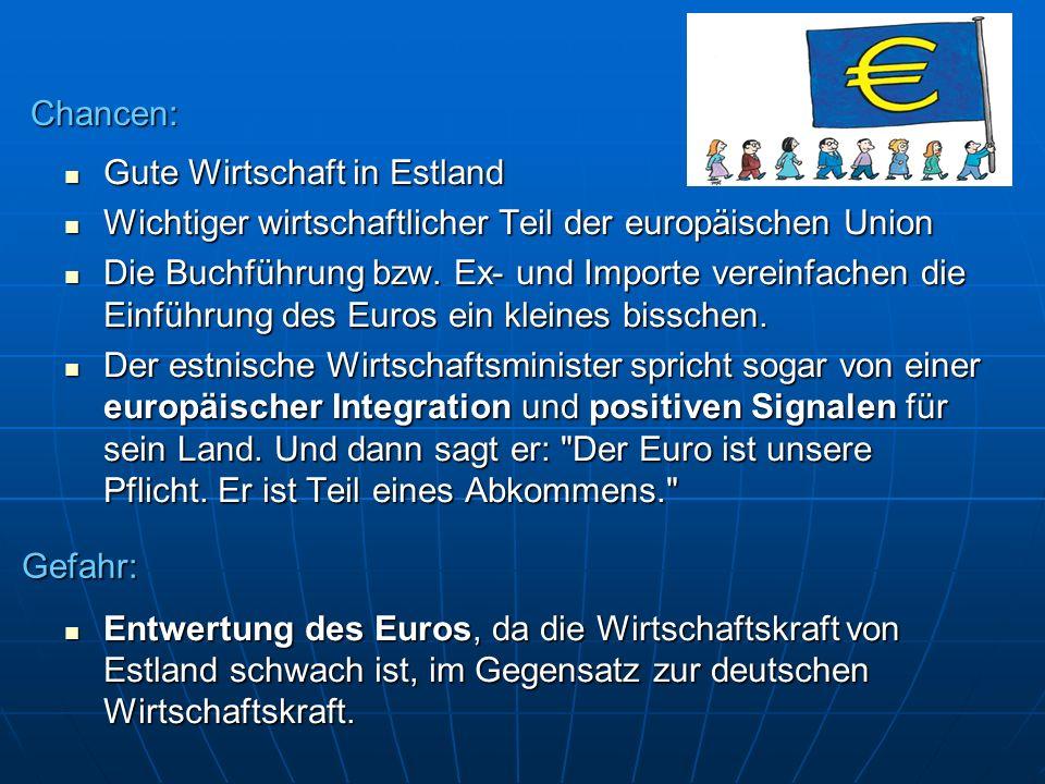 Gute Wirtschaft in Estland Gute Wirtschaft in Estland Wichtiger wirtschaftlicher Teil der europäischen Union Wichtiger wirtschaftlicher Teil der europ