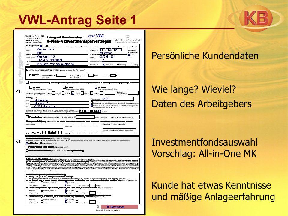VWL-Antrag Seite 2 Legitimationsprüfung Erklärung Antragsteller Vermittlungsvereinbarung Berechnung Vermittlungsgebühr Umseitige Widerrufsbelehrung Vermittlernummer Unterschriften