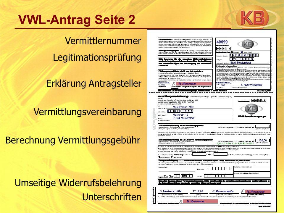 Vermittlungsgebühr Bei VWL kann Vermittlungsgebühr nicht eingeklagt werden.