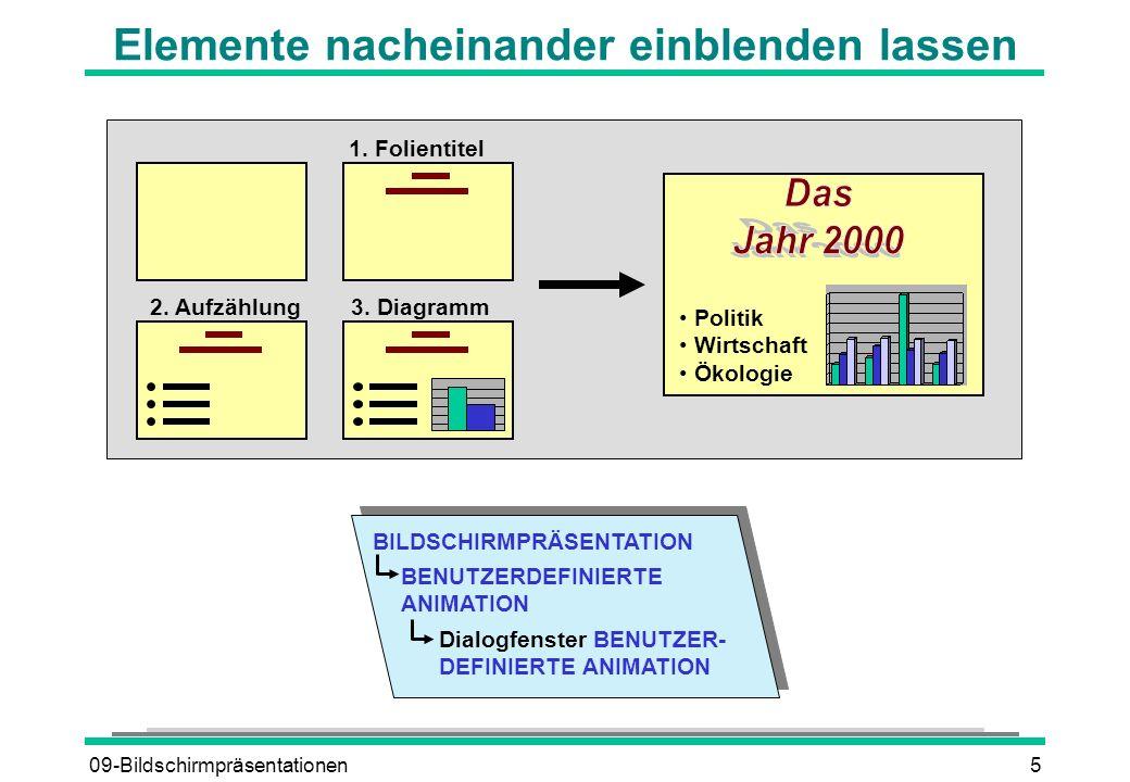09-Bildschirmpräsentationen6 Einblendzeiten steuern Automatisch Sekunden nach vorheriger Folie 1 20...