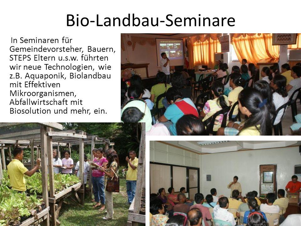 Bio-Landbau-Seminare In Seminaren für Gemeindevorsteher, Bauern, STEPS Eltern u.s.w.