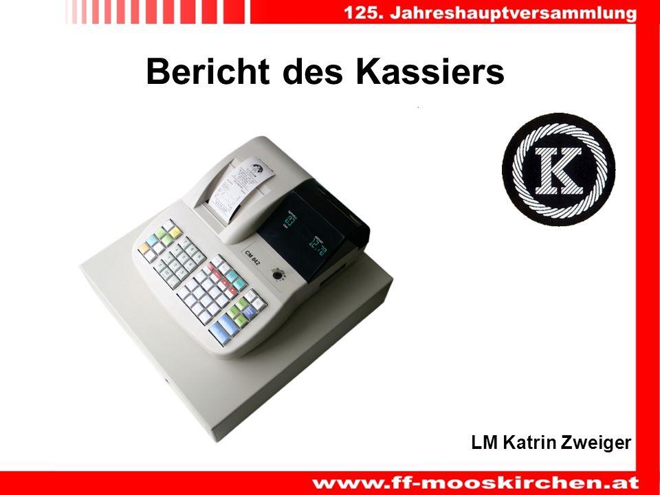 Bericht des Kassiers LM Katrin Zweiger