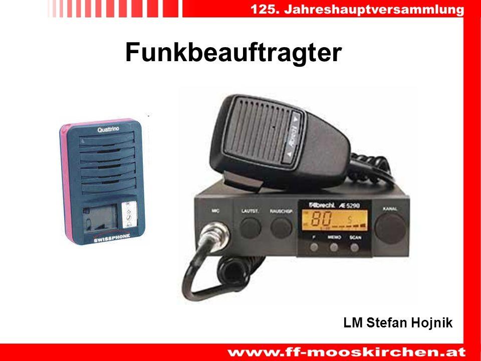 Funkbeauftragter LM Stefan Hojnik