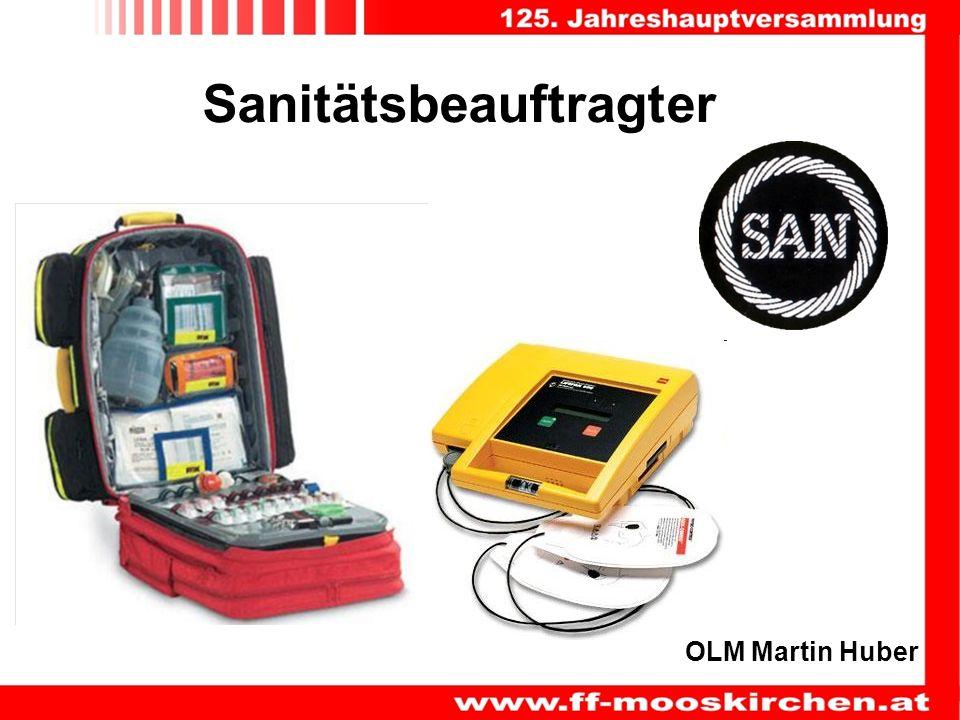 Sanitätsbeauftragter OLM Martin Huber