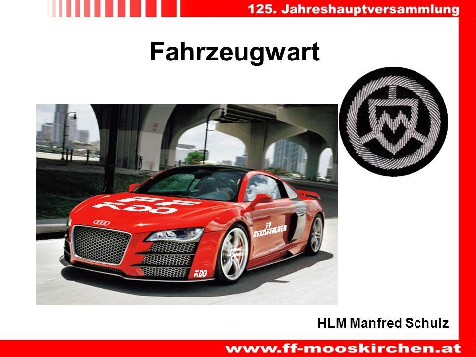 Fahrzeugwart HLM Manfred Schulz