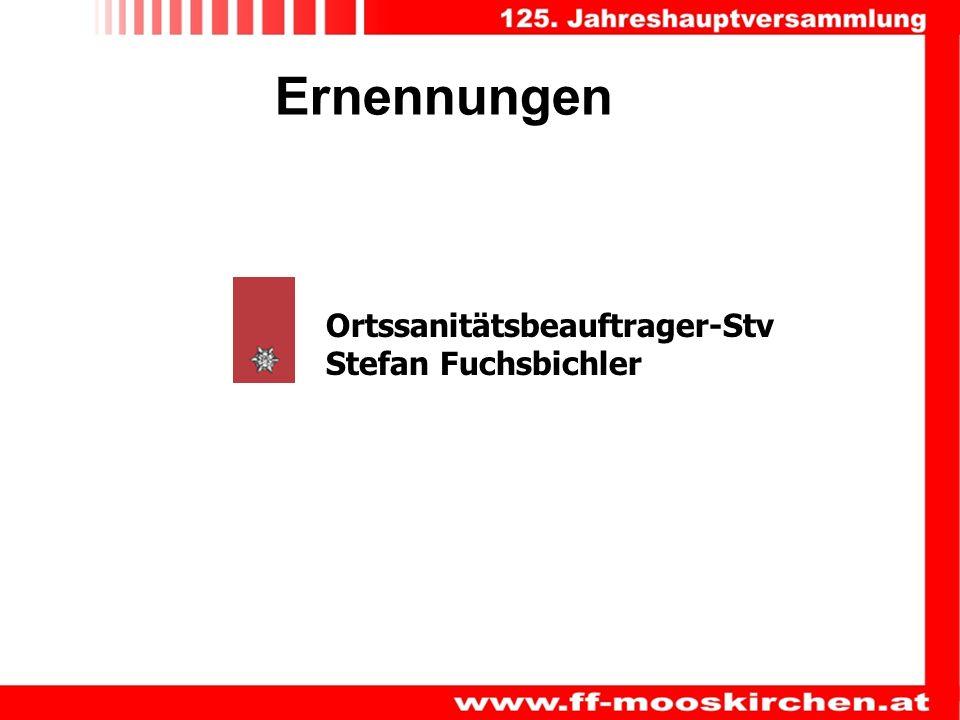 Ernennungen Ortssanitätsbeauftrager-Stv Stefan Fuchsbichler