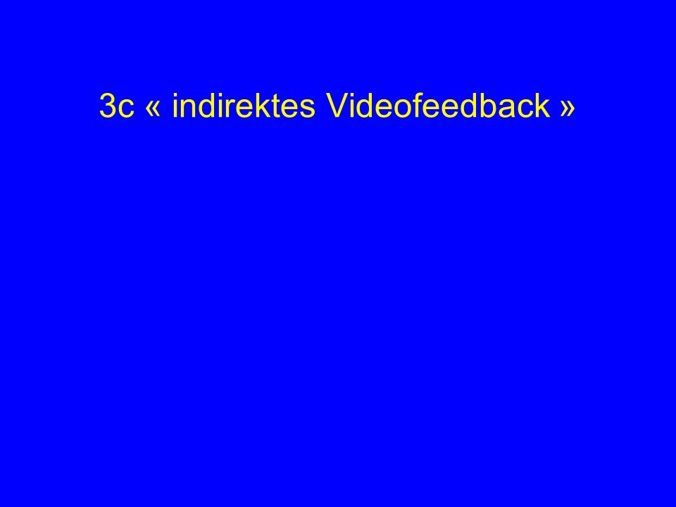 3c « indirektes Videofeedback »