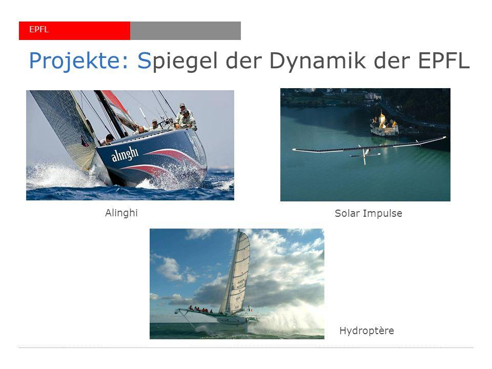 EPFL Projekte: Spiegel der Dynamik der EPFL Alinghi Solar Impulse Hydroptère