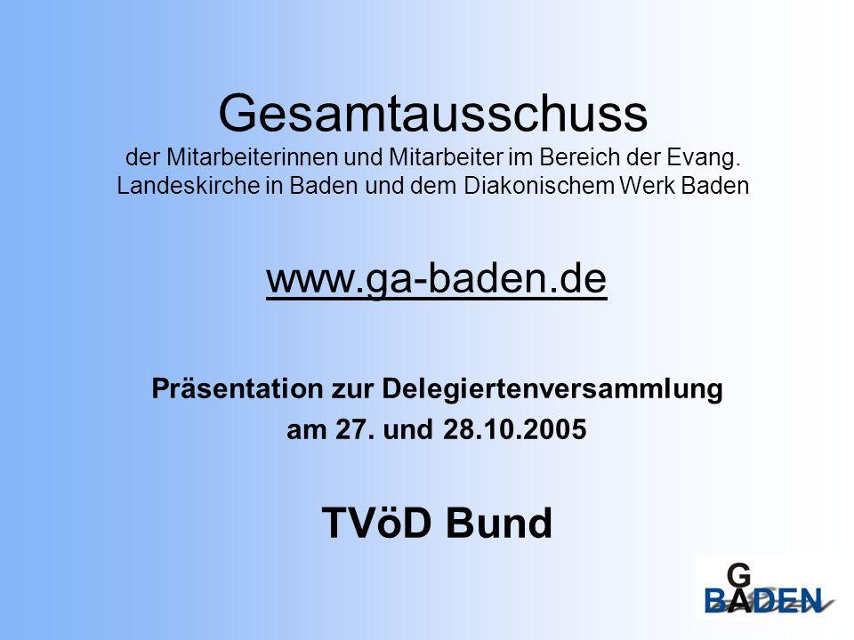 2 Tarifvertrag für den Öffentlichen Dienst (TVöD) - Fassung Bund - Geltungsbereich (§1) Der TV gilt nicht für: leitende Angestellte B mit Vergütungen von mehr als der Entgeltgruppe 15 B die Eingliederungszuschüsse erhalten oder in ABM sind Geringfügig B gem.