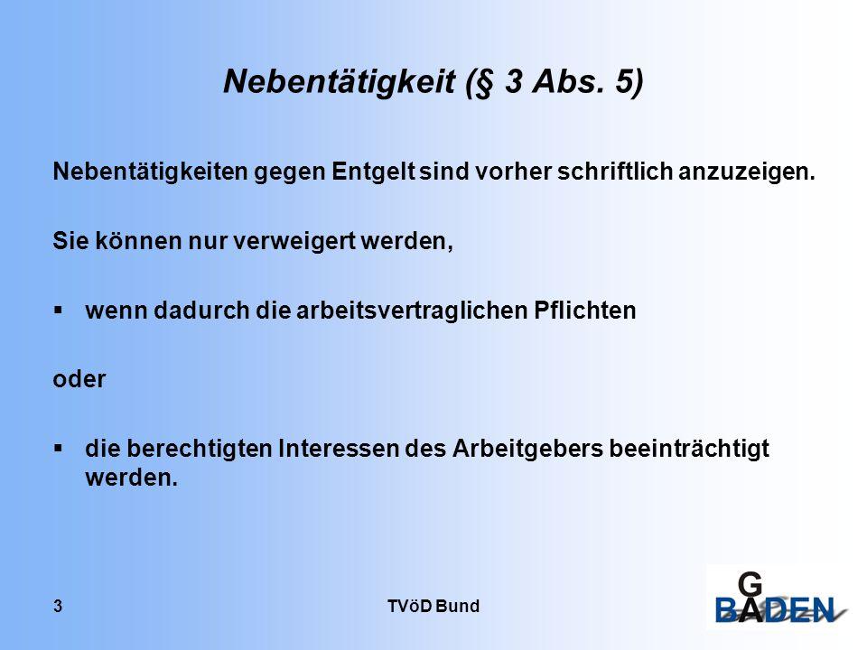 TVöD Bund 24 Zusatzurlaub bei Schicht- bzw.Wechselschichtdienst (§27) 1.