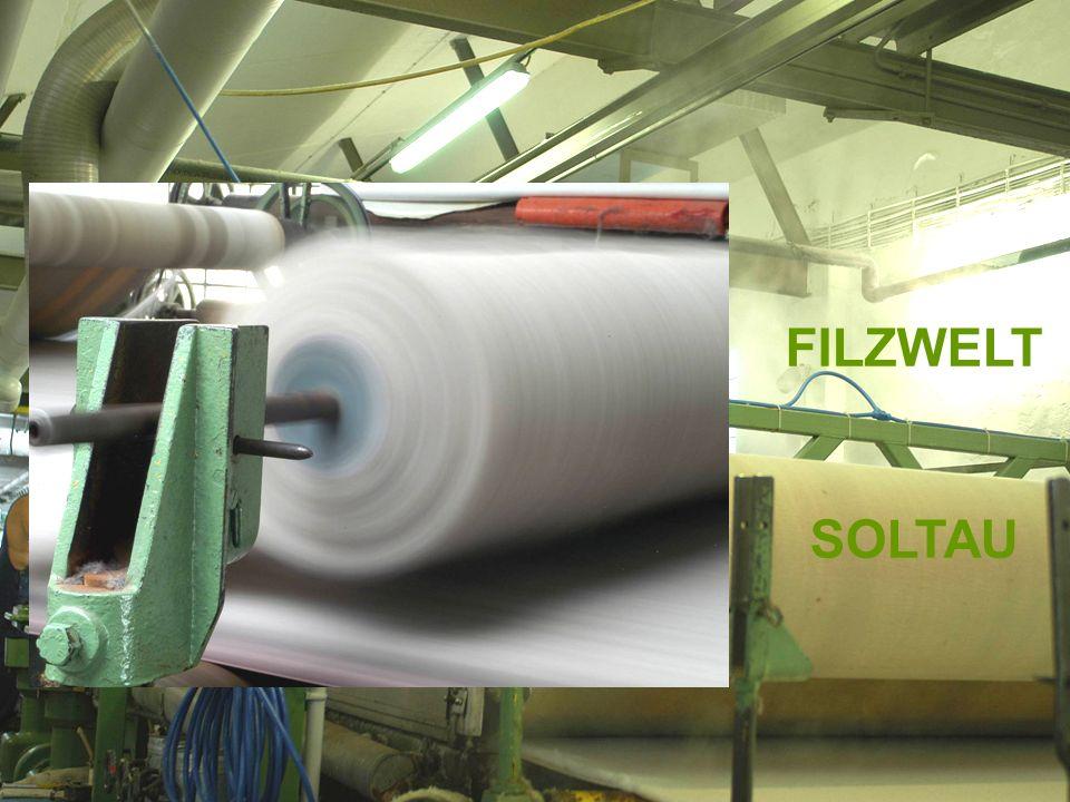 Ausgangspunkt 1: Soltauer Filz seit mehr als 150 Jahren Die Filzfabrik der Gebrüder Röders AG - gegründet 1847 als Filzschuhproduktion - in historistischen, denkmalgeschützten Gebäuden in der Kernstadt - mit mehr als 120 Mitarbeitern, ausschließlich von Soltau aus tätig - mit 3.000 verschiedenen Woll- und Nadelfilzen für eine Vielzahl von Anwendungen - bei einem Exportanteil von mehr als 50 %