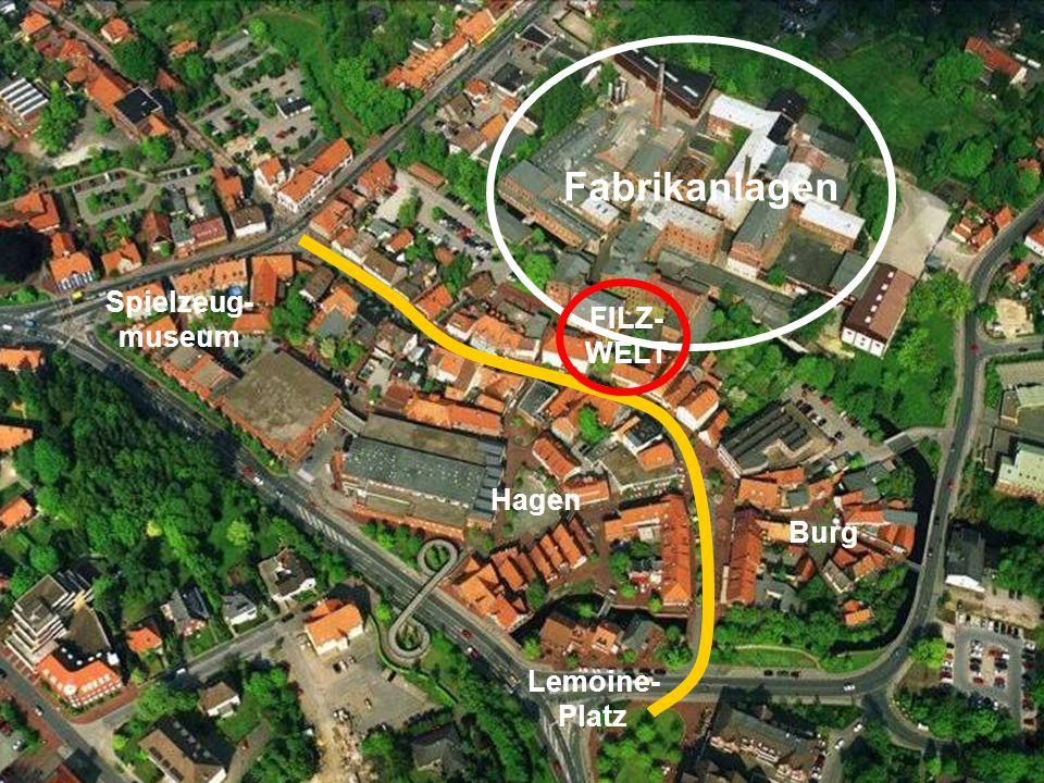 Spielzeug- museum Fabrikanlagen Lemoine- Platz Hagen FILZ- WELT Burg
