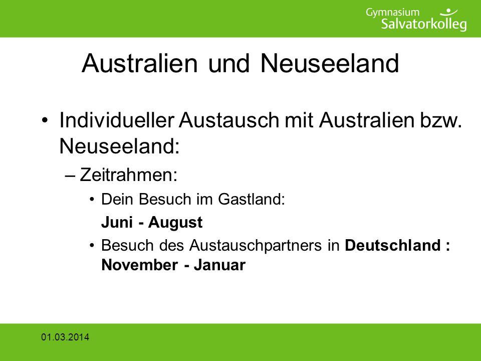 Australien und Neuseeland Individueller Austausch mit Australien bzw.