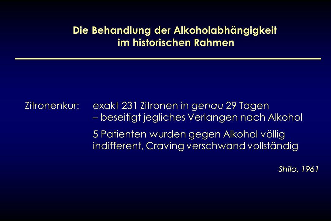 Die Behandlung der Alkoholabhängigkeit im historischen Rahmen Zitronenkur: exakt 231 Zitronen in genau 29 Tagen – beseitigt jegliches Verlangen nach A
