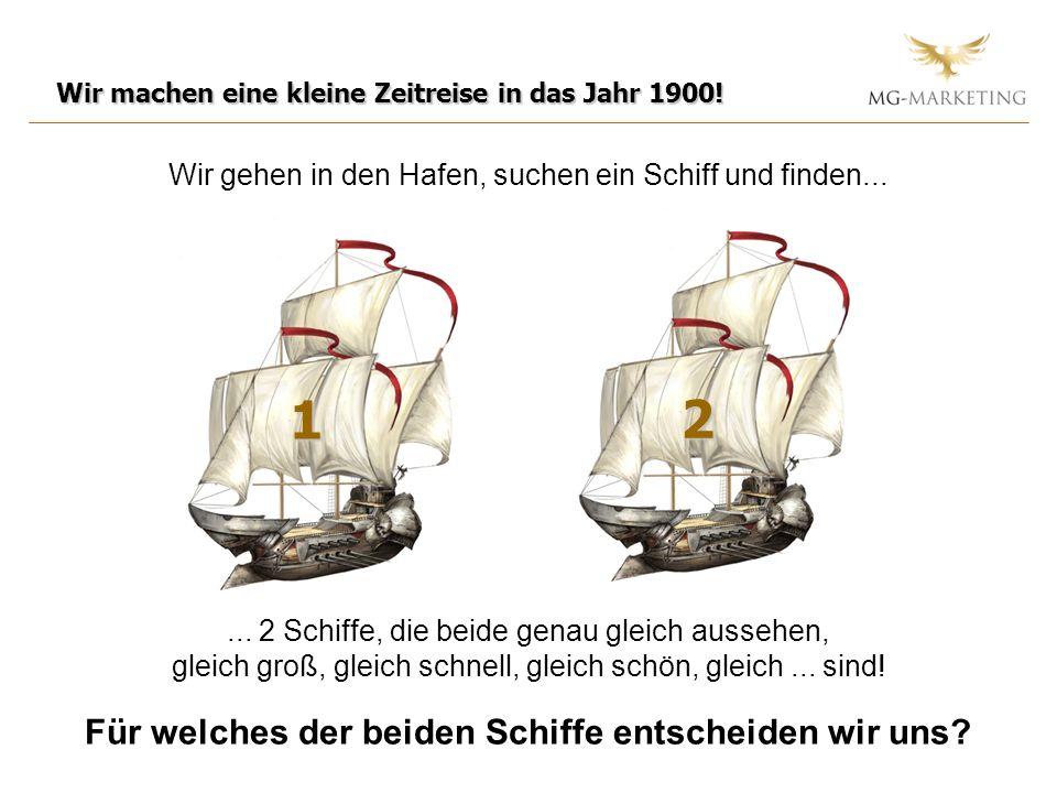Wir gehen in den Hafen, suchen ein Schiff und finden... Wir machen eine kleine Zeitreise in das Jahr 1900!... 2 Schiffe, die beide genau gleich ausseh