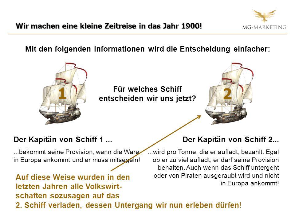 Mit den folgenden Informationen wird die Entscheidung einfacher: Wir machen eine kleine Zeitreise in das Jahr 1900! 1 2 Der Kapitän von Schiff 1......