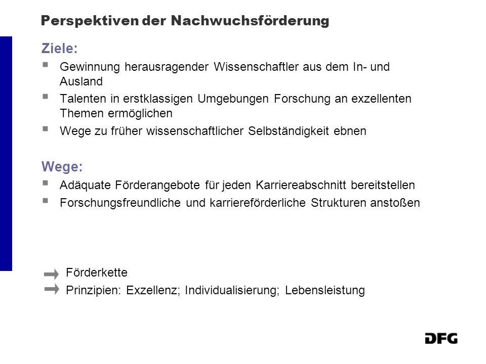 DFG-Nachwuchsförderkette: Vom 1.Semester bis zur Erlangung eines Lehrstuhls Student.