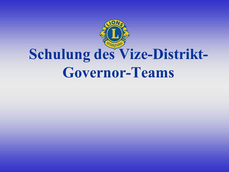 Schulung des Vize-Distrikt- Governor-Teams