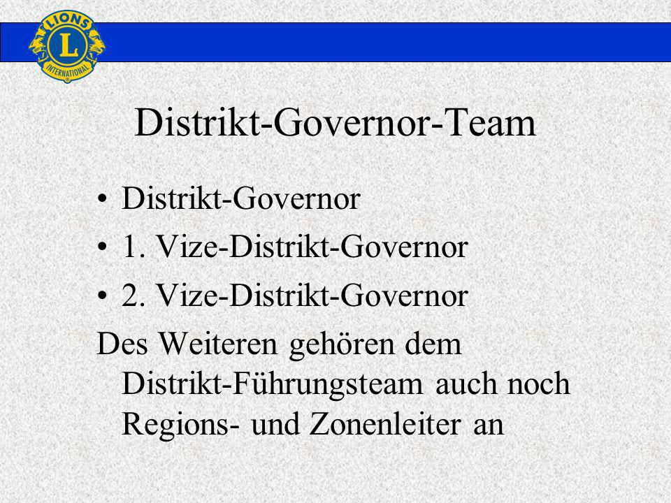 Distrikt-Governor 1. Vize-Distrikt-Governor 2.