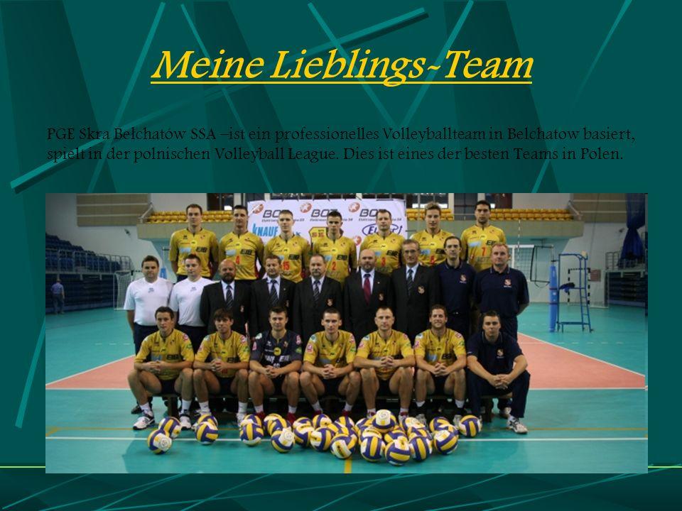 Meine Lieblings-Team PGE Skra Be ł chatów SSA –ist ein professionelles Volleyballteam in Belchatow basiert, spielt in der polnischen Volleyball League.