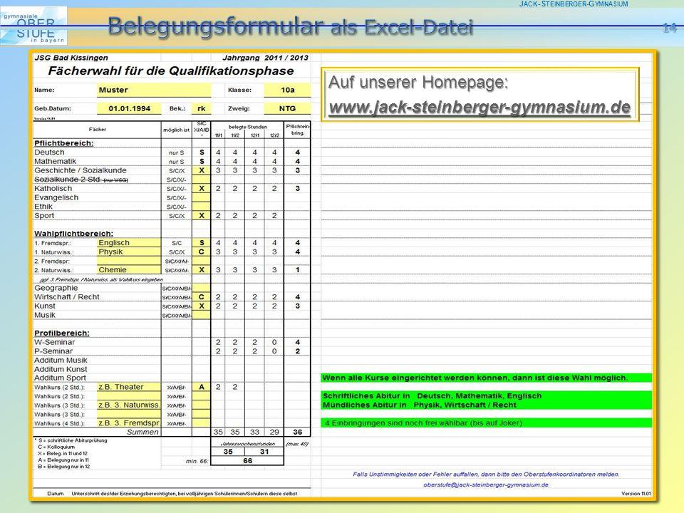 J ACK -S TEINBERGER -G YMNASIUM Auf unserer Homepage: www.jack-steinberger-gymnasium.de