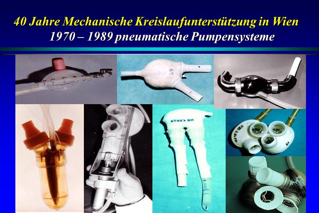 40 Jahre Mechanische Kreislaufunterstützung in Wien 1970 – 1989 pneumatische Pumpensysteme