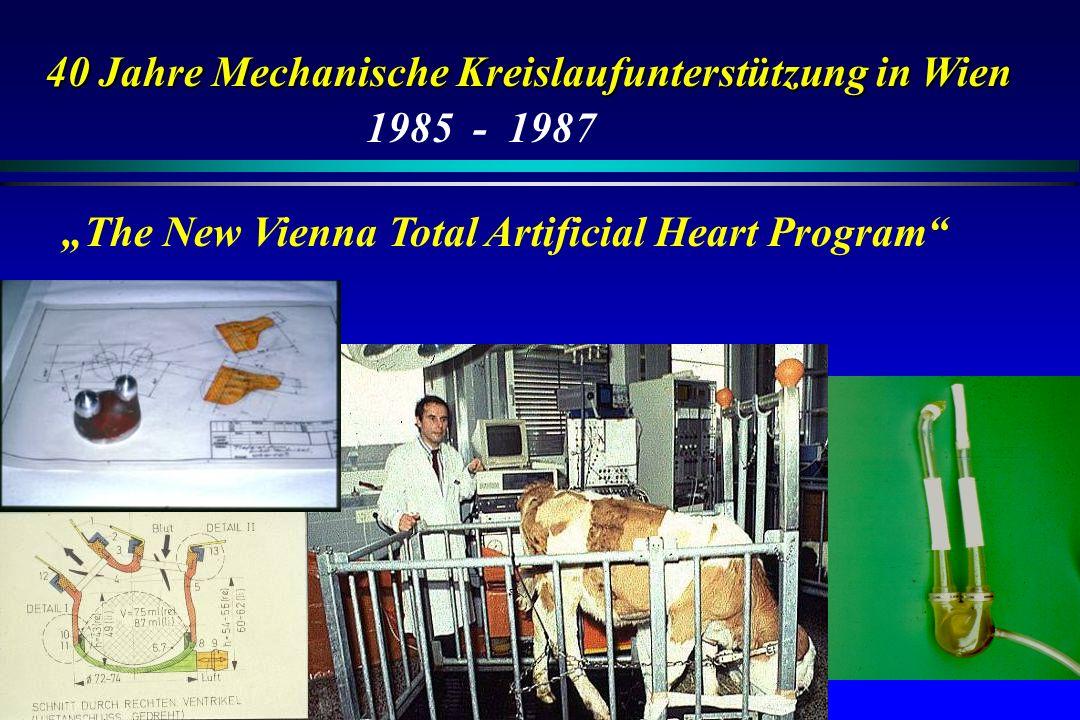 40 Jahre Mechanische Kreislaufunterstützung in Wien The New Vienna Total Artificial Heart Program 1985 - 1987