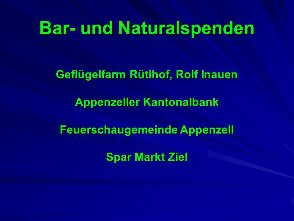 Geflügelfarm Rütihof, Rolf Inauen Appenzeller Kantonalbank Feuerschaugemeinde Appenzell Spar Markt Ziel