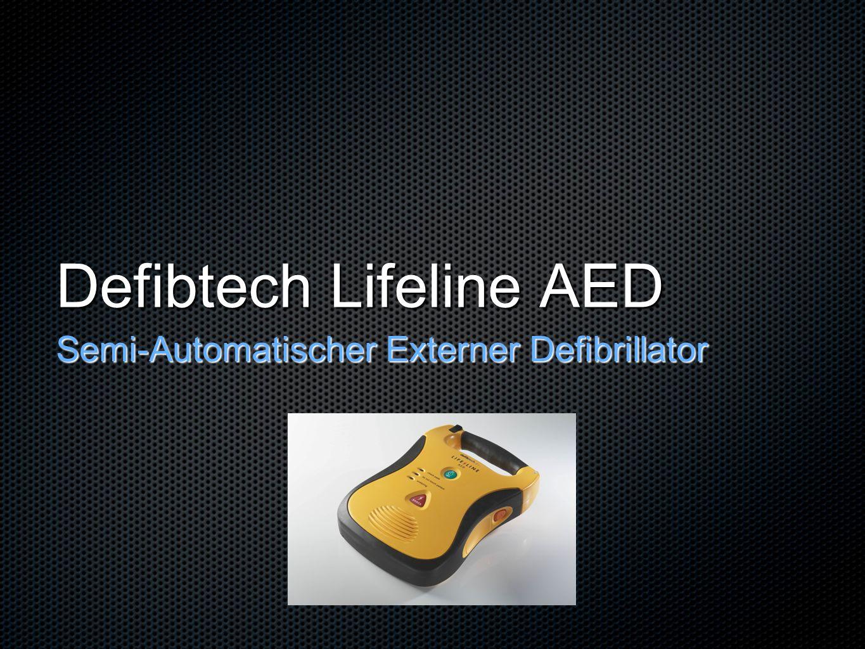 Automatisierter externer Defibrillator (AED) Eine Software analysiert den Herzrhythmus und entscheidet danach, ob eine Defibrillation notwendig ist Nur bei positivem Ergebnis wird die Funktion freigeschaltet und kann durch den Anwender ausgelöst werden