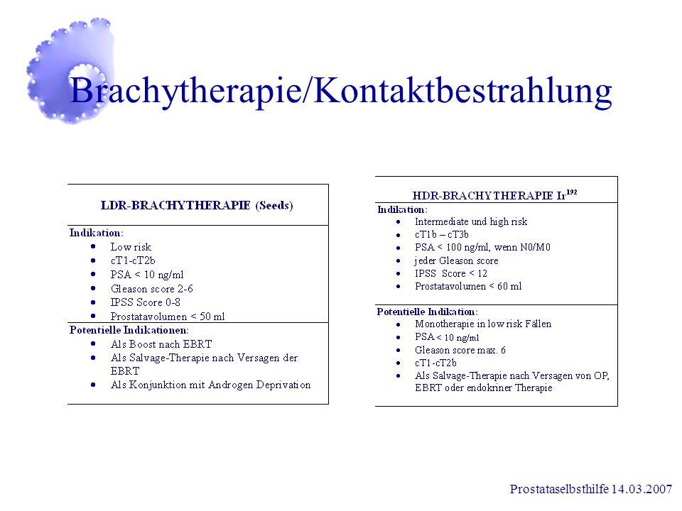 Prostataselbsthilfe 14.03.2007 Therapieentwicklung